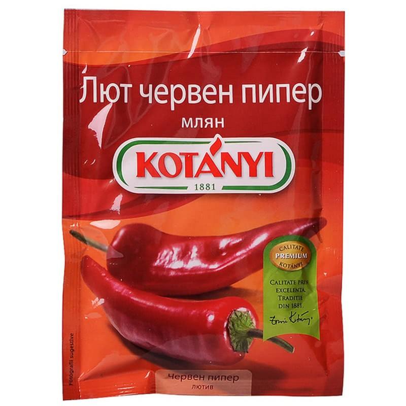 КОТАНИ ПОДПРАВКА ПЛИК ЧЕРВЕН ПИПЕР ЛЮТ 40Г 1921