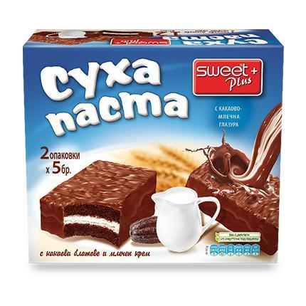 СУИТ+ СУХА ПАСТА 300Г КАКАО МЛЕЧЕН КРЕМ
