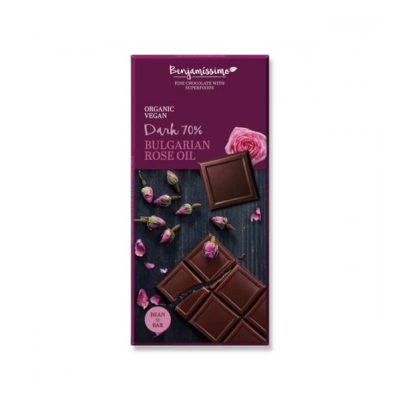 Бенджамисимо Био Веган Шоколад Натурален 80% Роза 70г