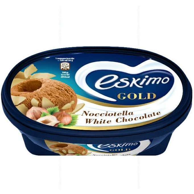 Алджида Ескимо Голд Сладолед Крем Бисквити 450г 900мл