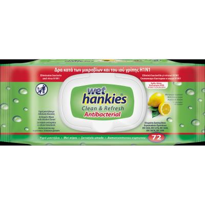 Хенкис Мокри Кърпи Антибактериални Лимон 72бр