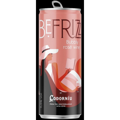 Би фриз Пенливо вино Розе Кодорню 250мл
