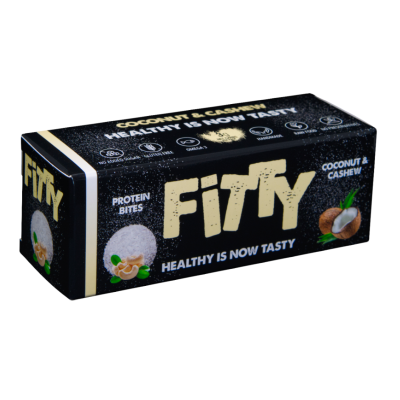 Фити протеинови хапки с кокос и кашу  75г
