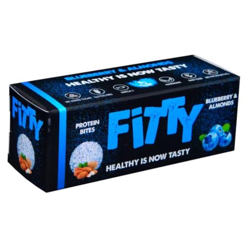 Фити протеинови хапки с боровинки и бадеми 75г